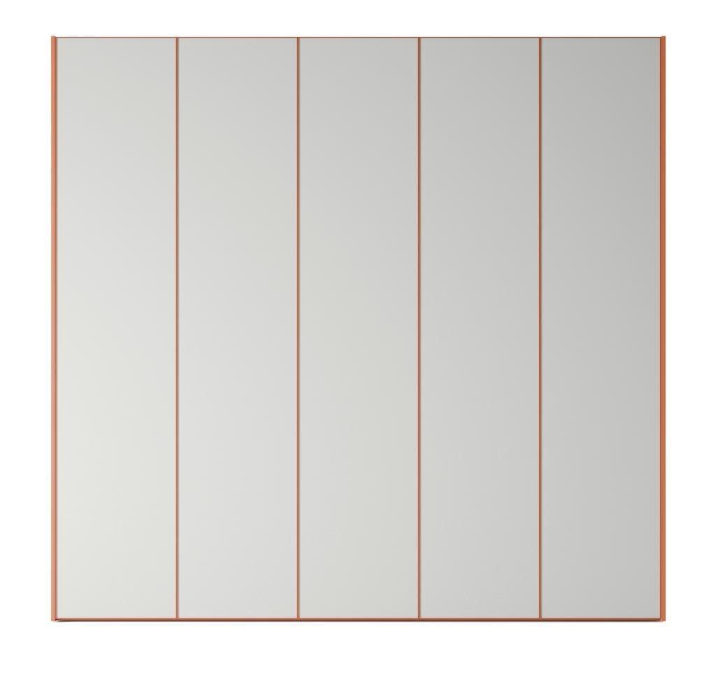 Armario de cinco puertas batientes en color Humo-Mandarina