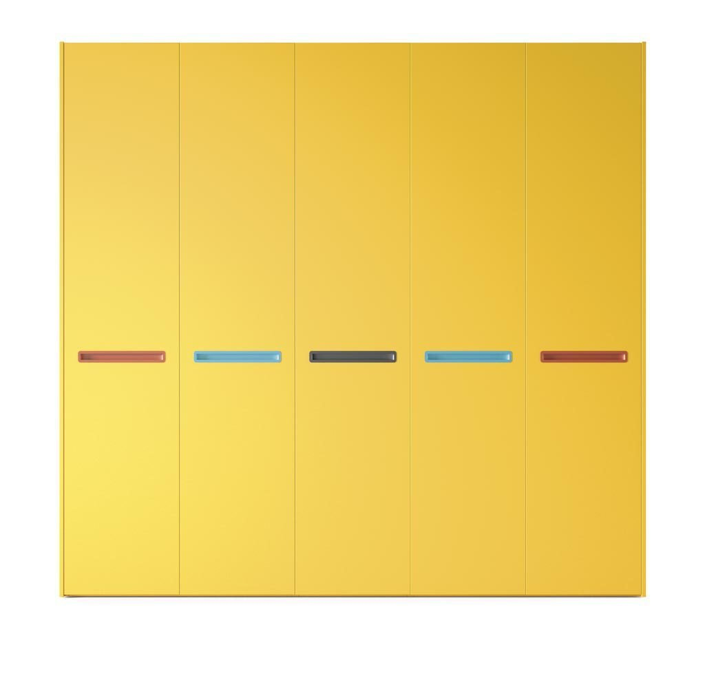 Armario de cinco puertas batientes en color Mostaza