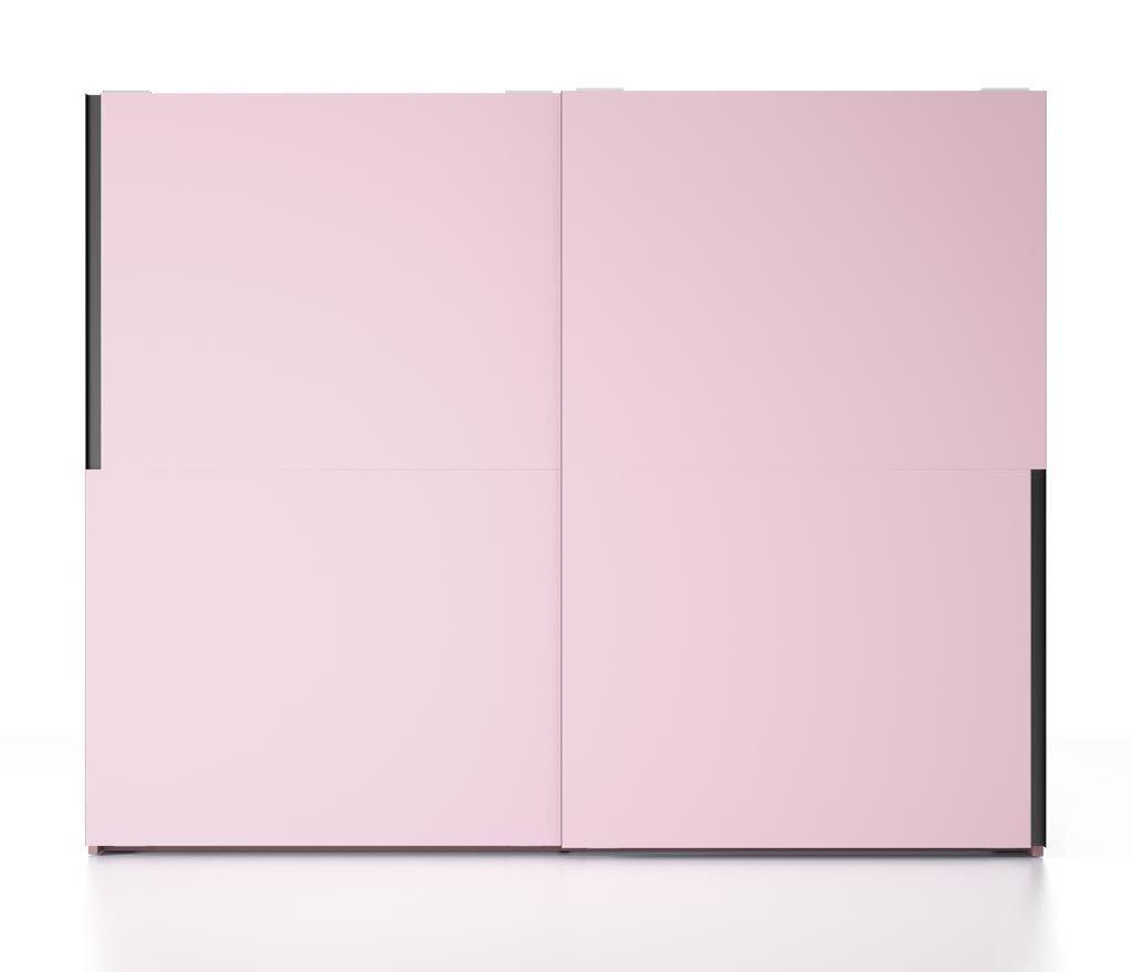 Armario de dos puertas todo en color Rosa