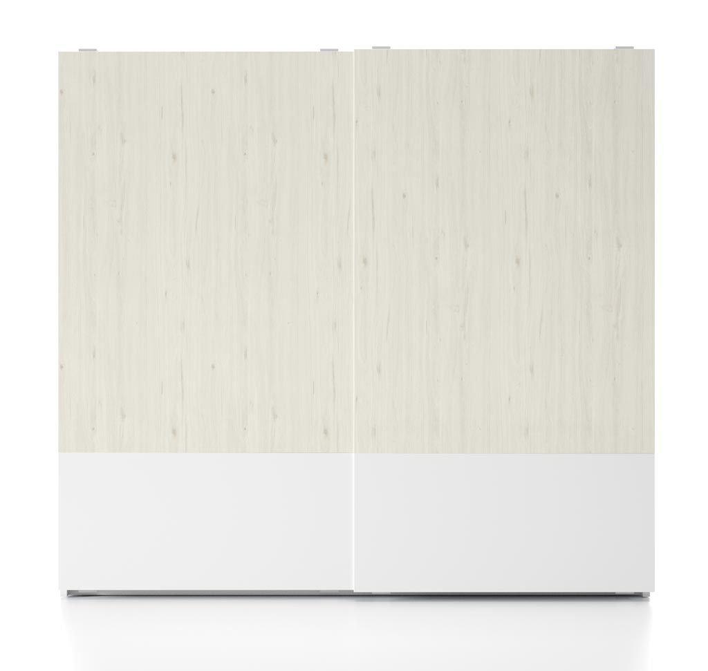 Armario en Blanco y Abeto con las puertas modelo Zen