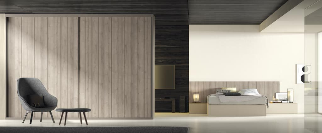 Armario de dos puertas correderas para un dormitorio de adulto