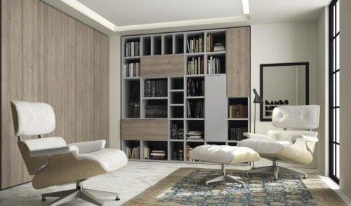 Armario y librería para una zona de lectura