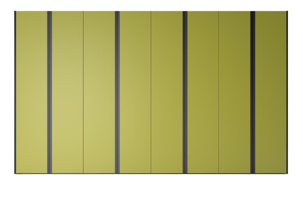 Armario de ocho puertas batientes en color Oliva