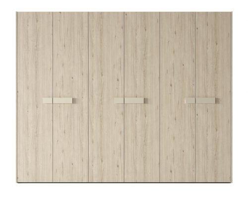 Armario de seis puertas batientes en color Nórdico
