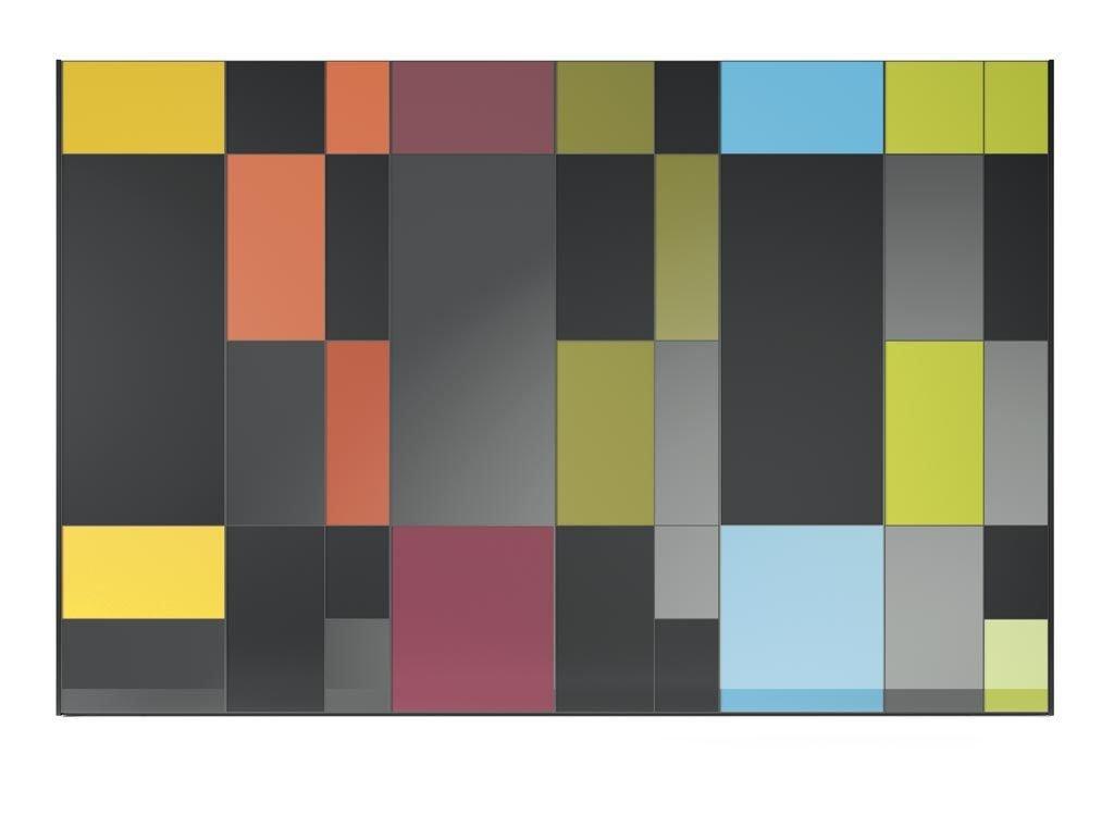 Armarios de colores con acabado multicolor