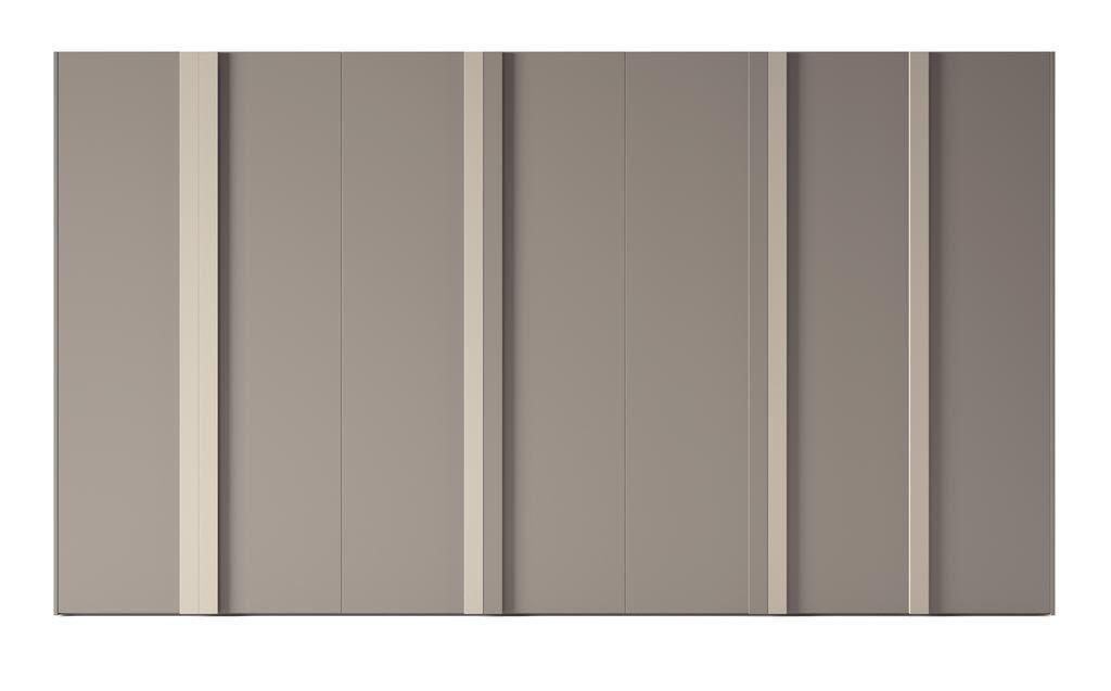 Armario de siete puertas batientes en color Tortora