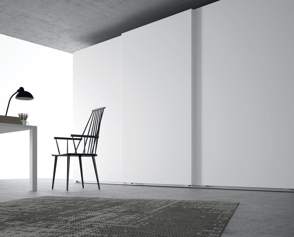 Armario corredero Blanco para aumentar la luminosidad de la estanciao