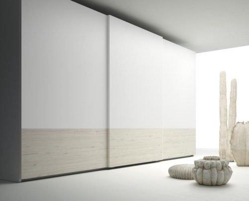 Armario combinado con los colores Abeto y Blanco