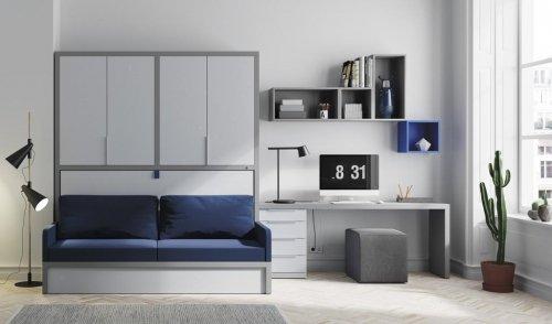 Esta composición con cama abatible con sofá es para cubrir unas necesidades diferentes