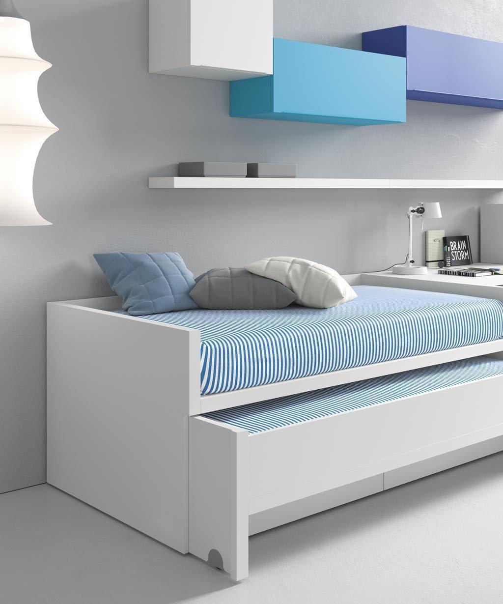 La cama de arrastre inferior puede tener un lateral para que cuando este cerrada quede más integrada