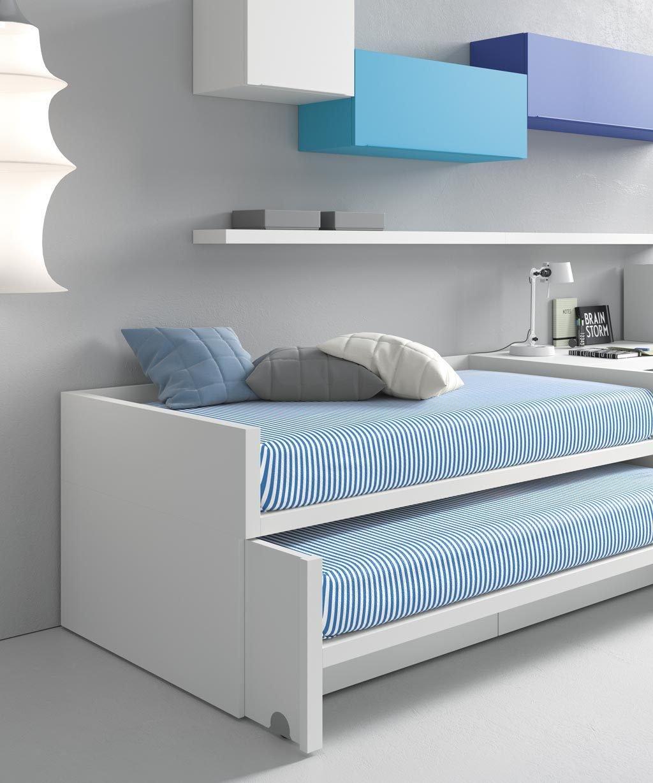 Si lo prefieres la cama inferior de arrastre puede no tener lateral para que quede más accesible