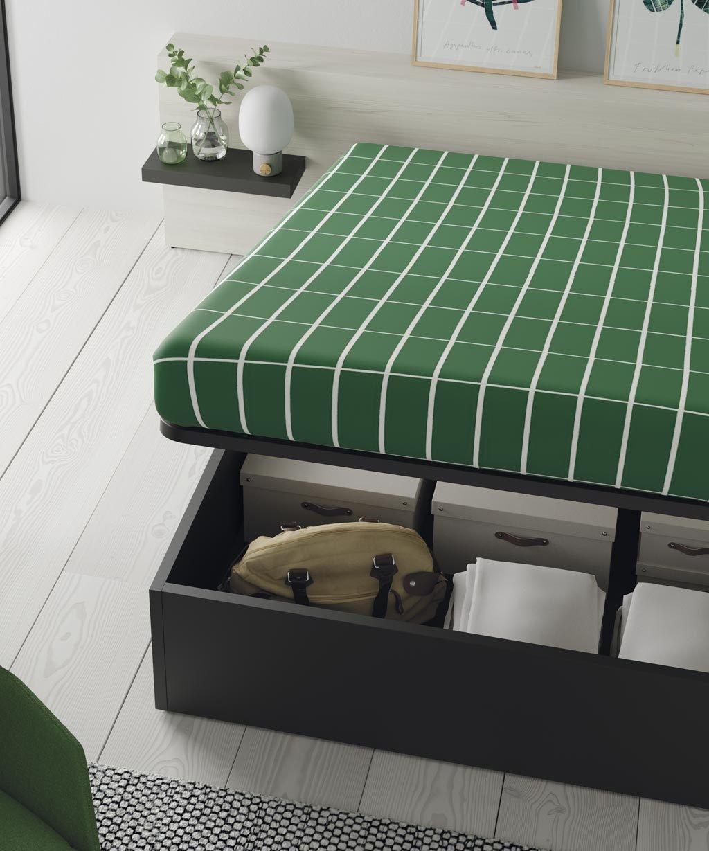 Con las camas canapé ganas mucho espacio en la habitación para guardar elementos más grandes