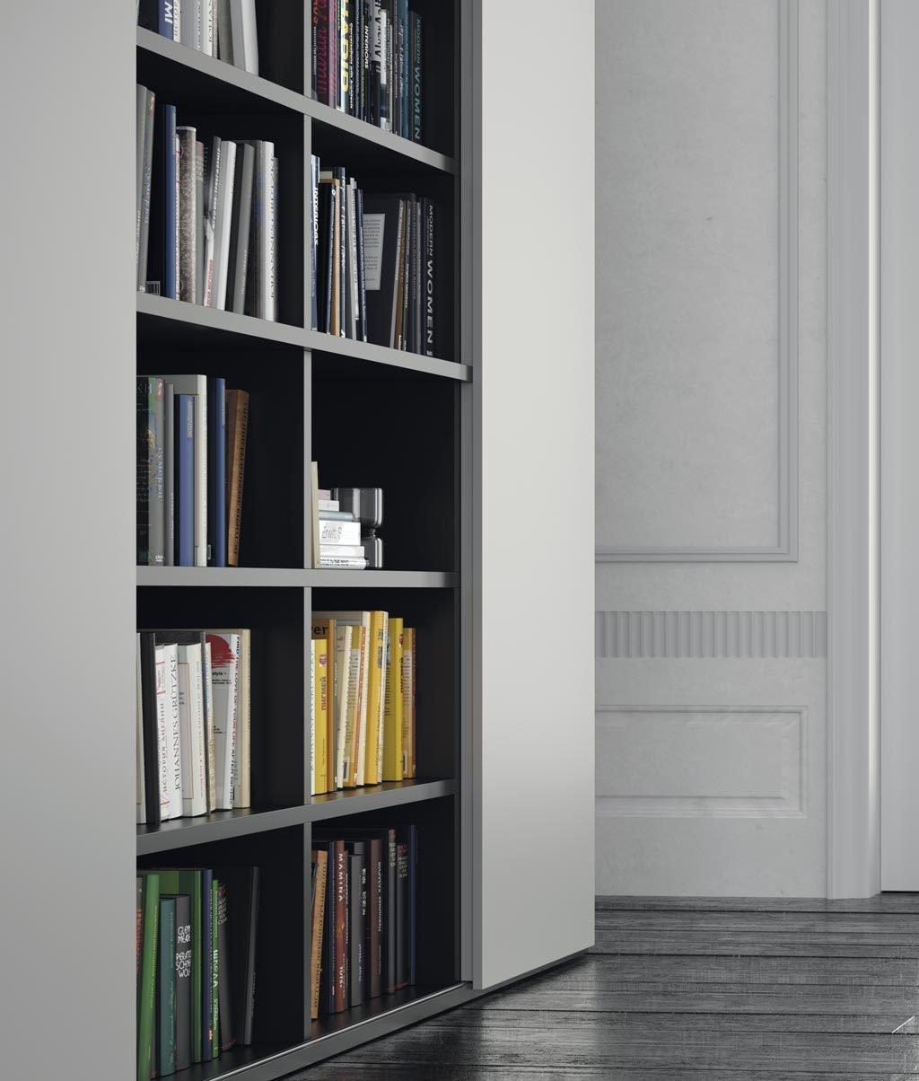 Detalle de los estantes de la librería