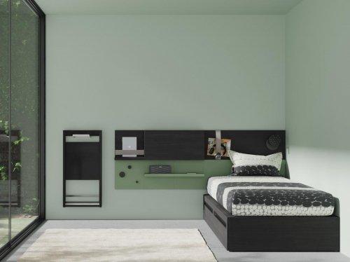 Combina el dormitorio juvenil con los muebles de la colección FLAT
