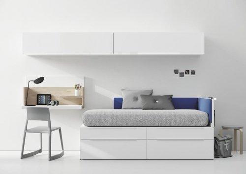Dormitorios Juveniles minimalistas con muebles de la colección NEST