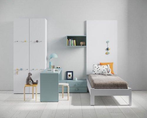 Habitación infantil con la cama BOLD, una distribución funcional y elegante