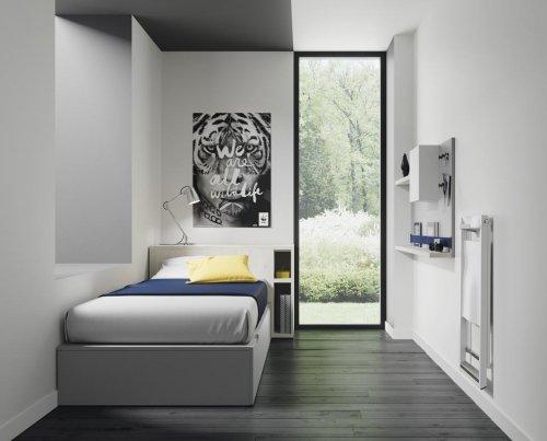 Los muebles extraíbles junto a los módulos de la colección FLAT te permiten optimizar las habitaciones estrechas