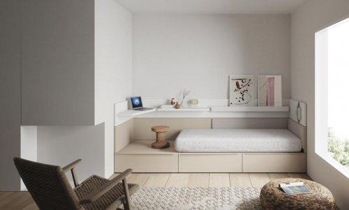 Los muebles de la colección NEST los puedes hacer a medida para encajarlos en tu habitación