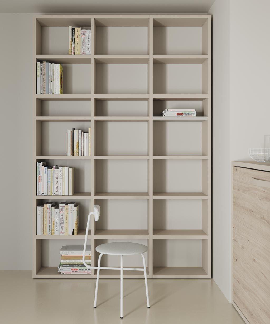 Librería para zona de estudio del dormitorio juvenil