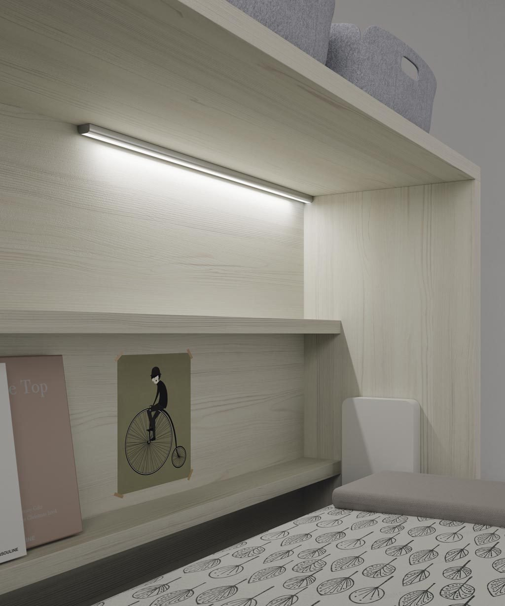 Tira de luz led de superficie para colocarla en la posición que desees dentro de la cama abatible