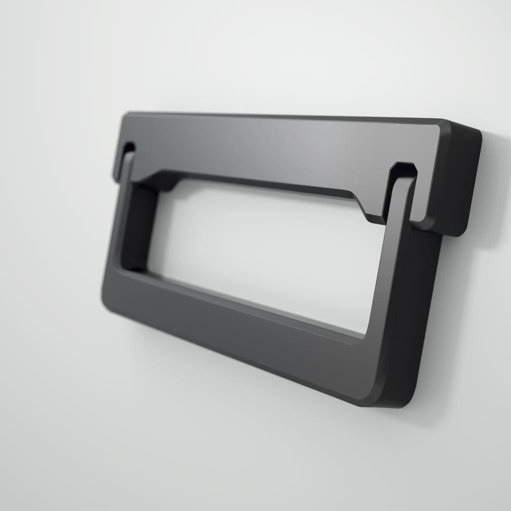 Detalle del tirador modelo Cargo que es del material Zamak