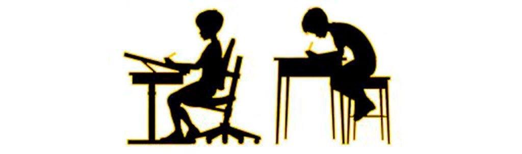 Posición recomendada para sentarse los niños