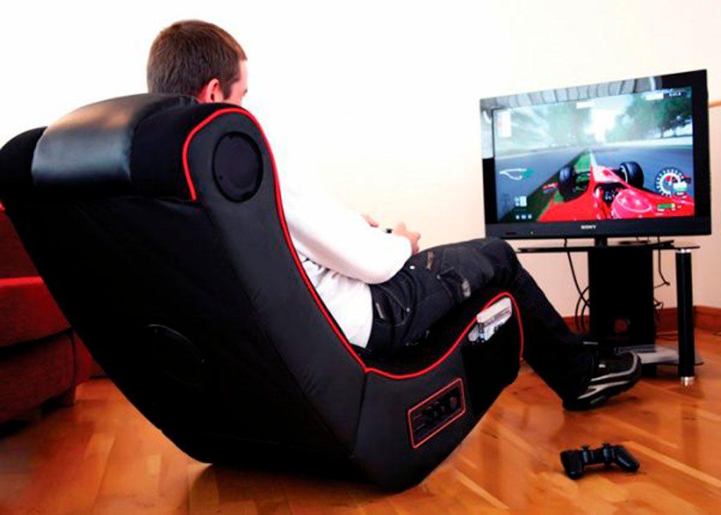 Silla ergonómica para jugar con la consola de videojuegos