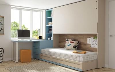 32 escritorios en dormitorios juveniles de lo más funcionales