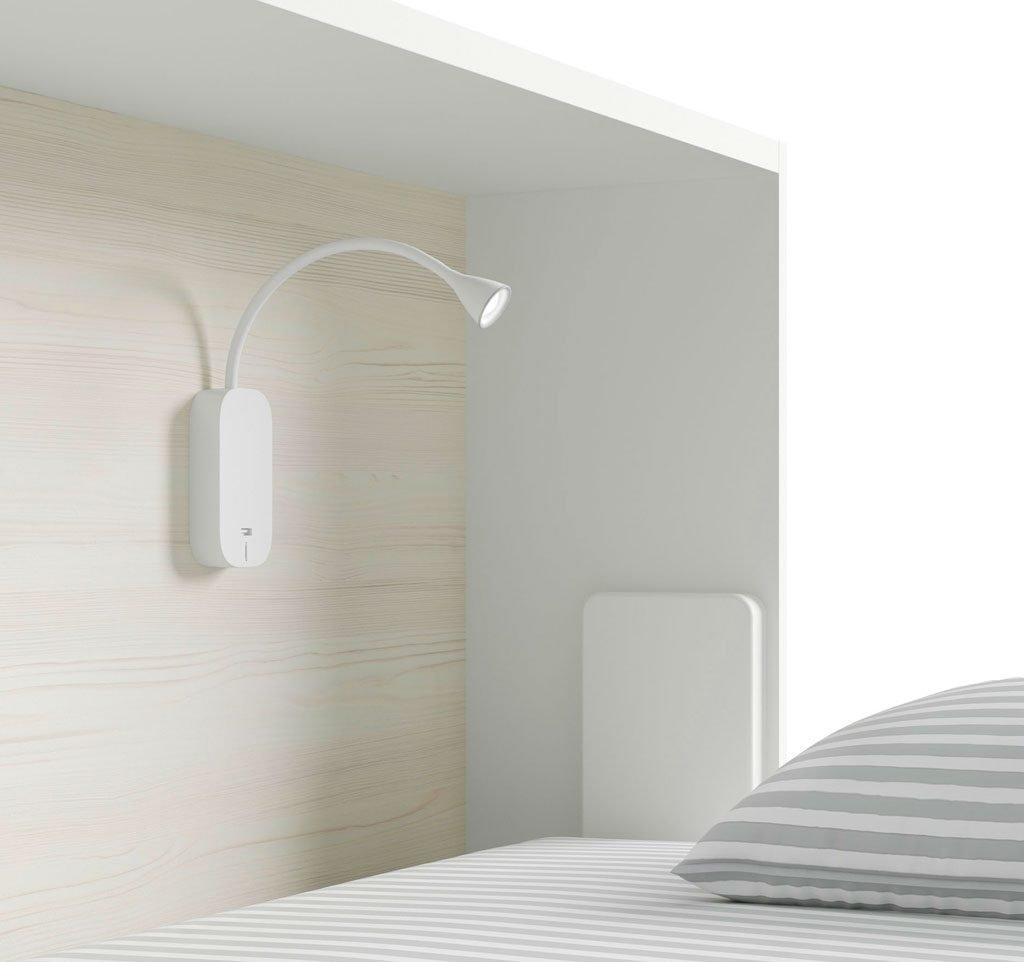Luz led flexo con cargador USB complemento ideal para leer y cargar el móvil