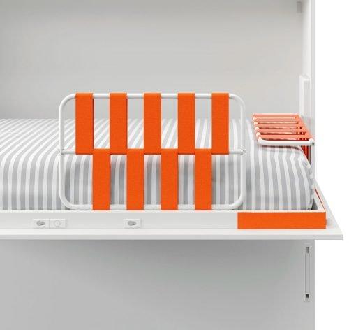 Protector y cabecero con cinchas elásticas para camas abatibles