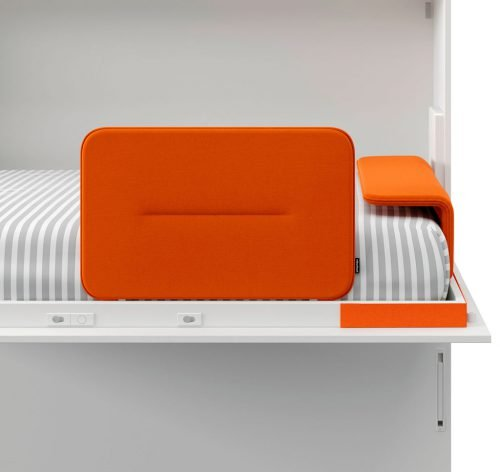 Protector y cabecero tapizado para las camas abatibles
