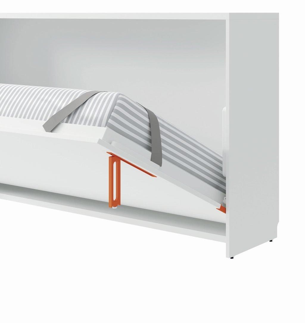 Tirador de la cama abatible horizontal abriendo