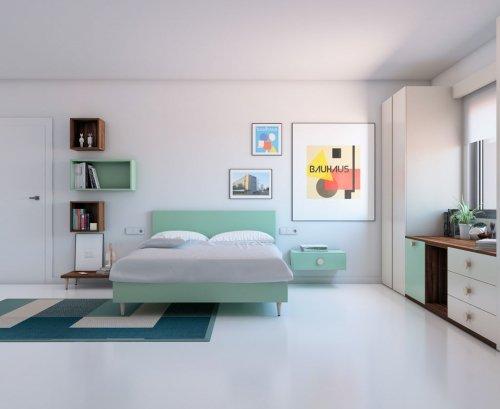 Composición de dormitorio para adulto muy original