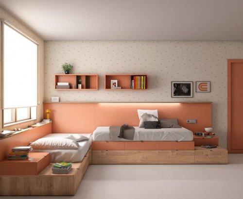 Composición de muebles para jóvenes soñadores
