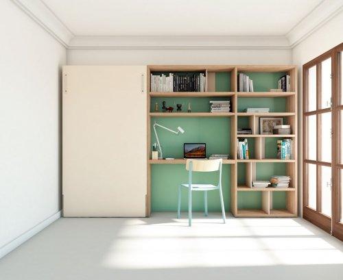 Dormitorio juvenil muy compacto y acogedor