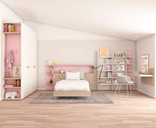 Dormitorio juvenil para una niña de estilo romántico