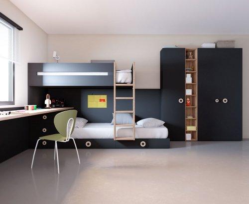Dormitorio juvenil ideal para dos hermanos