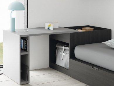 Mesa estudio extraíble para un dormitorio juvenil actual