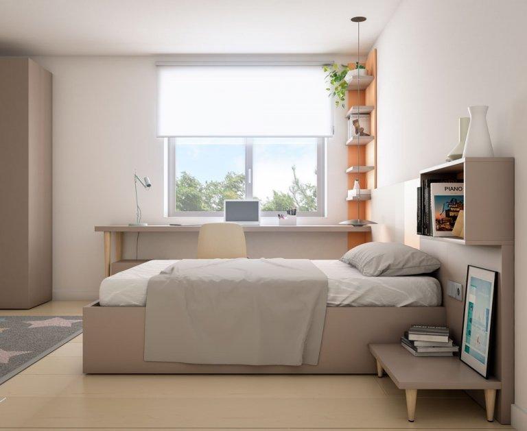 Mesa de zona estudio muy amplia para el dormitorio juvenil